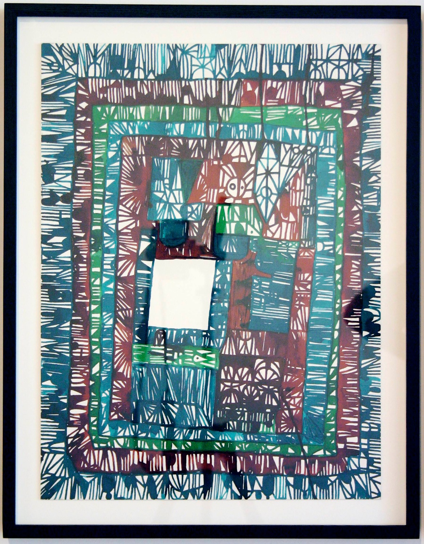 """William J. O'Brien Untitled 2006 Ink on board 19 ⅞"""" x 14 ⅞"""" WOB051"""