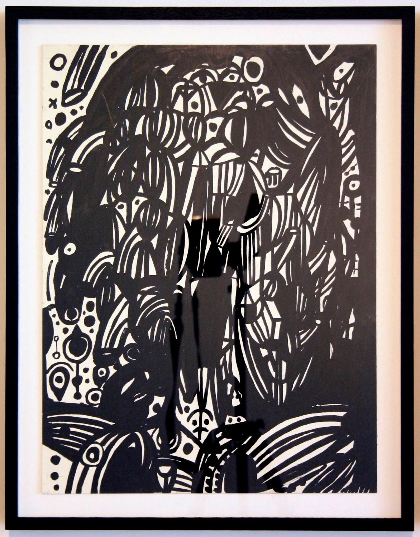 """William J. O'Brien Untitled 2006 Ink on board 19 ⅞"""" x 14 ⅞"""" WOB054"""