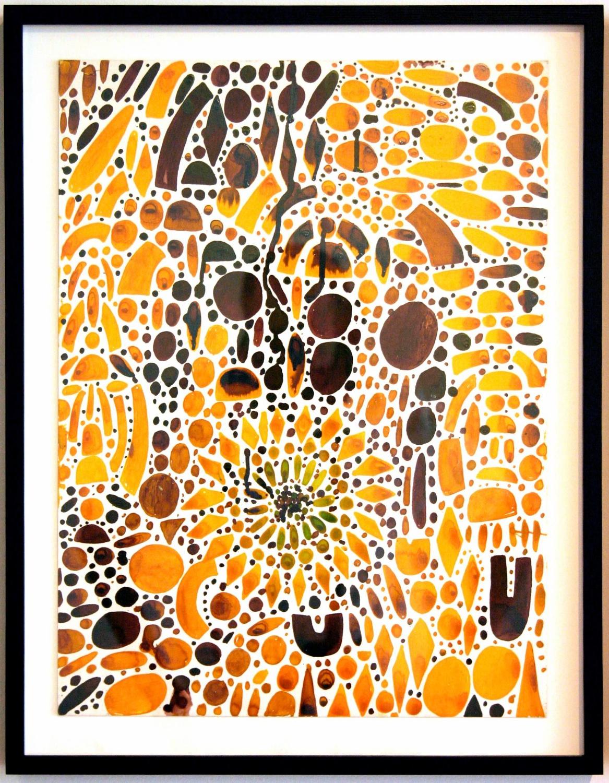 """William J. O'Brien Untitled 2006 Ink on board 19 ⅞"""" x 14 ⅞"""" WOB053"""