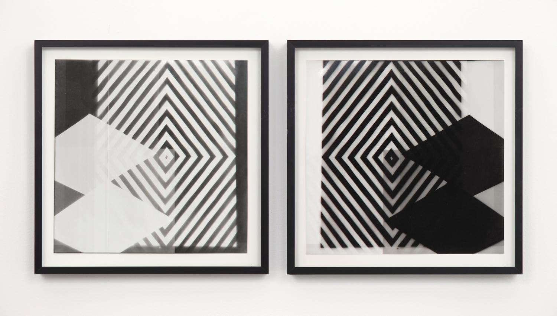 "Nathan Hylden Untitled 2006 Photogram 13"" x 13"" each, diptych NH001"