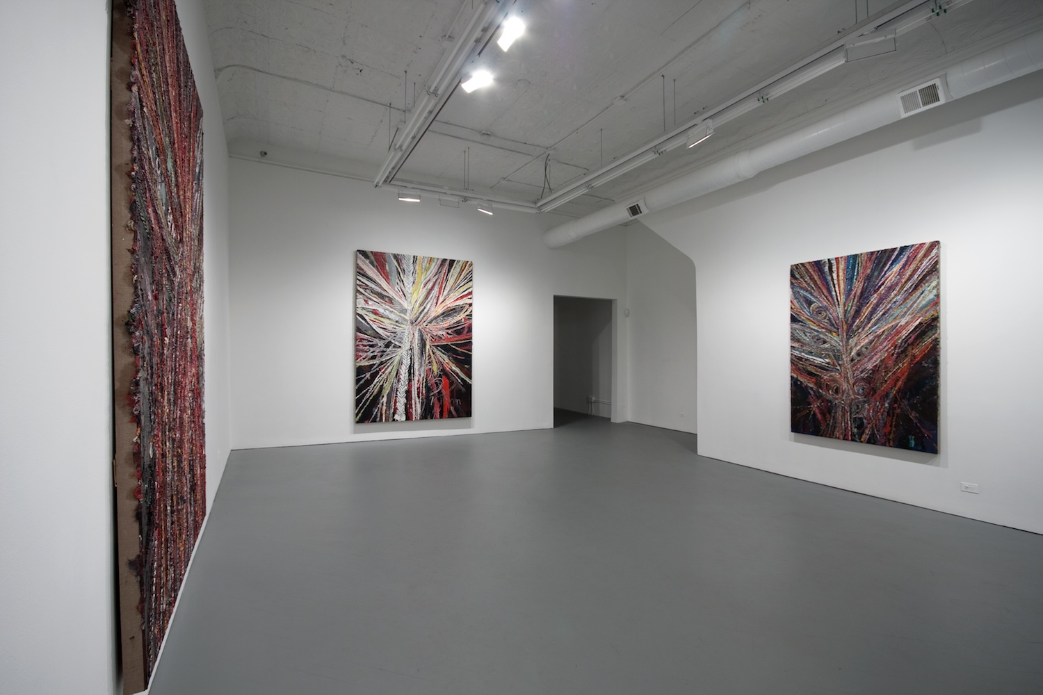 Mark Grotjahn Three to Five Faces 2011 Shane Campbell Gallery, Chicago Installation View