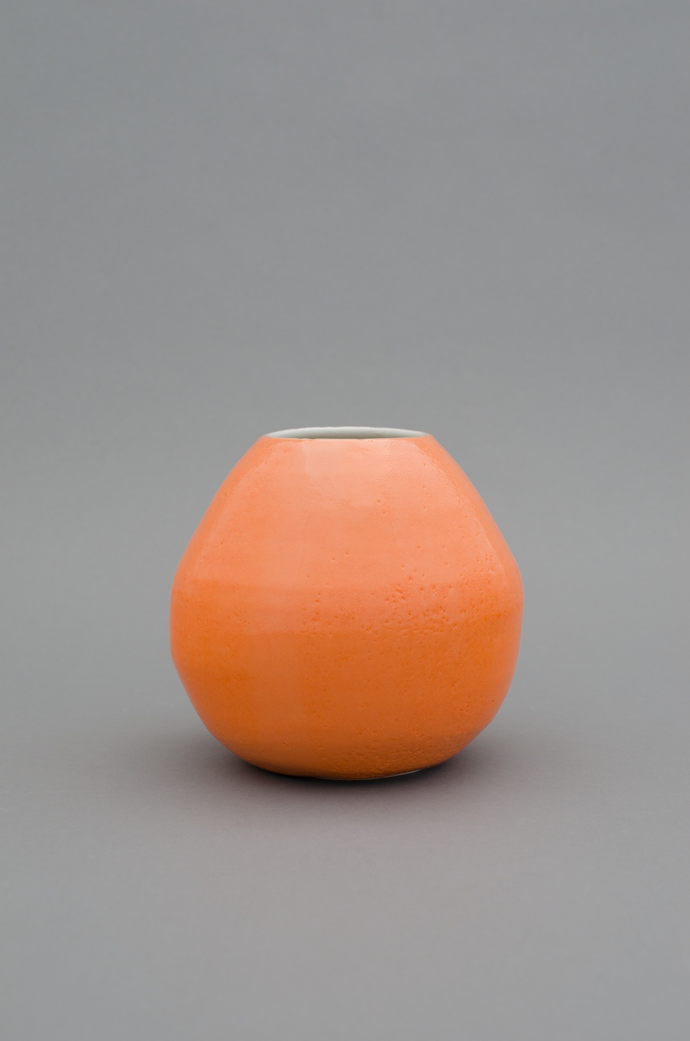 Shio Kusaka  Untitled (orange 4)  2012 Porcelain 6h x 6w x 6d in SK382