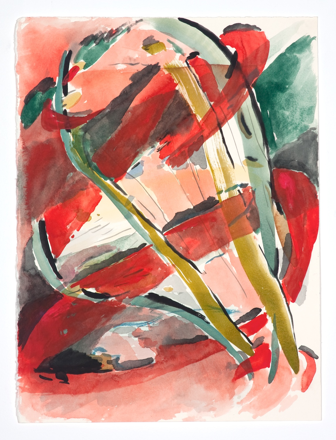 Jon Pestoni  Untitled  2009 Gouache on paper 15h x 11 ⅛w in JP066