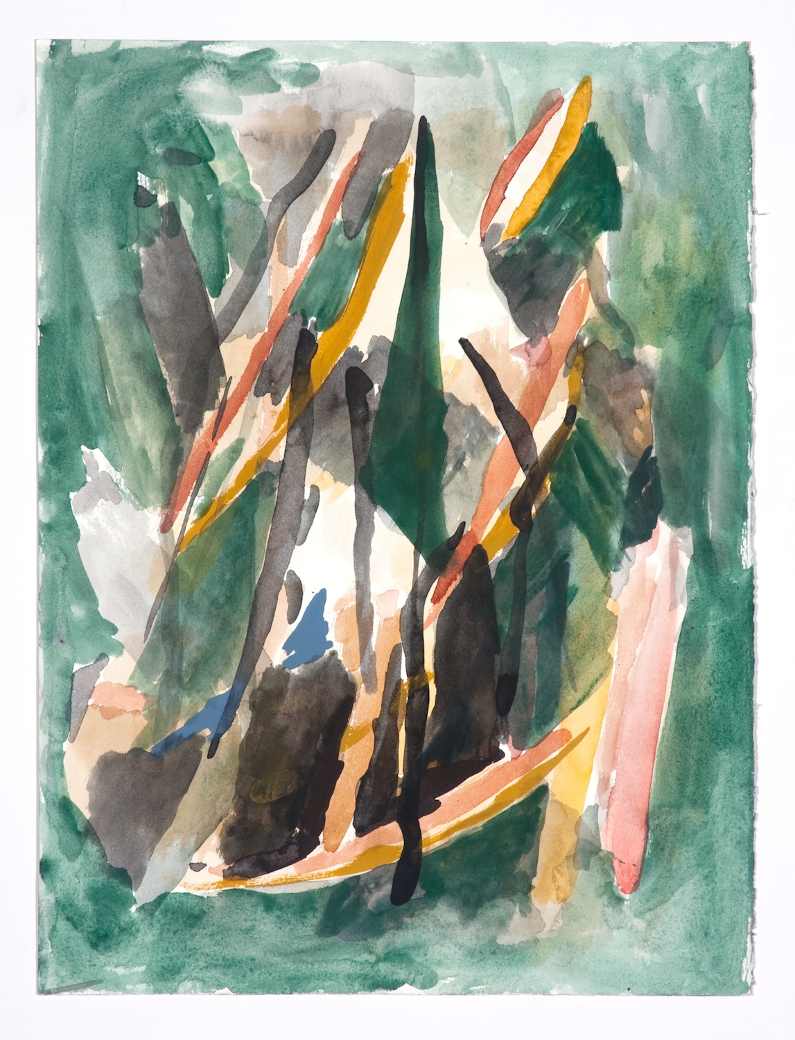 Jon Pestoni  Untitled  2009 Gouache on paper 18 ¼h x 14 ½w in JP067