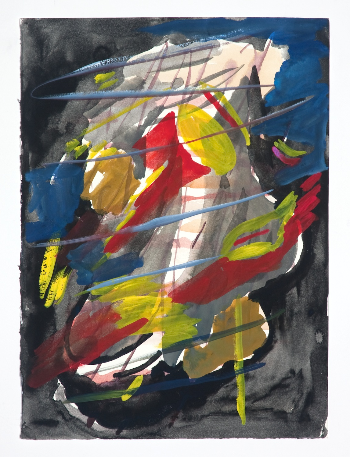 Jon Pestoni  Untitled  2009 Gouache on paper 18 ¼h x 14 ½w in JP080