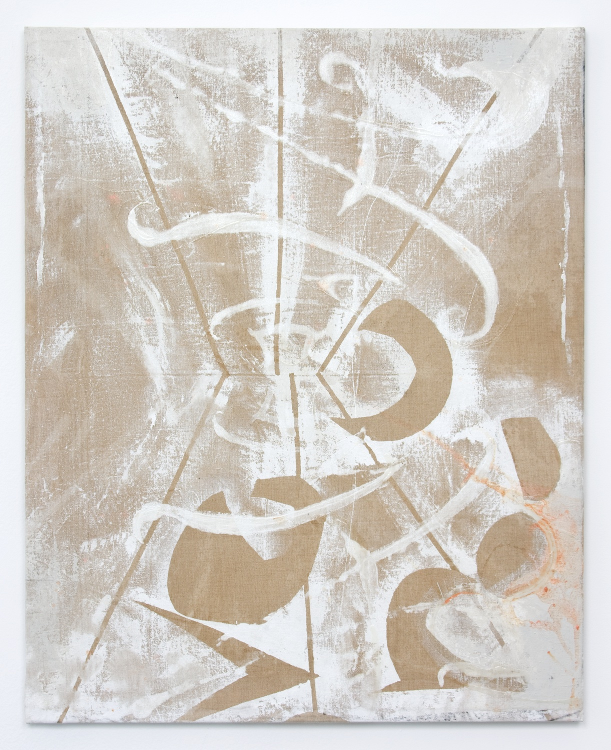 Suzanne McClelland  Over  2010 Acrylic on linen; Bendix stretcher 32h x 25 ½w in SM113