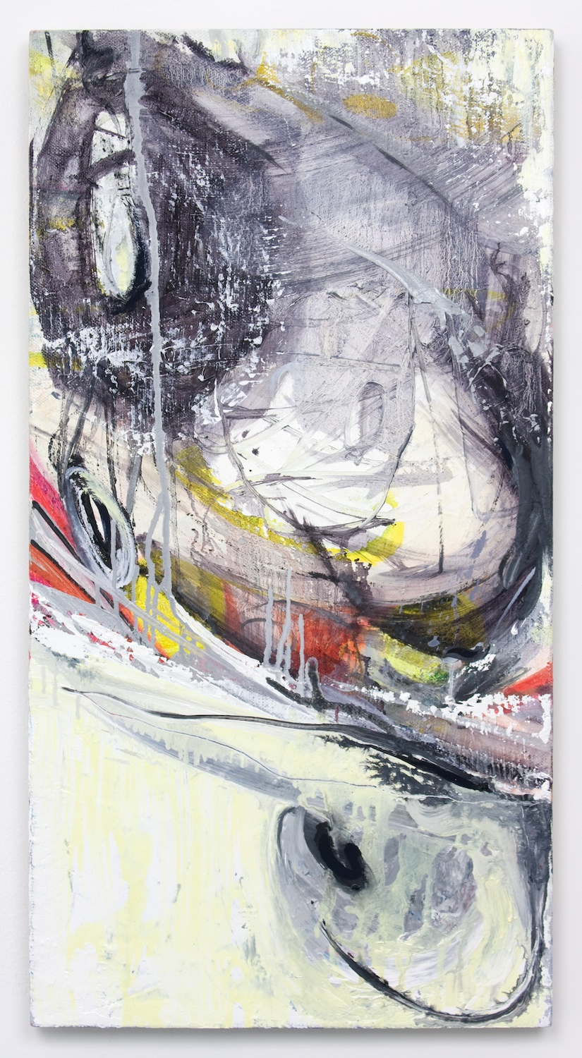 Suzanne McClelland  Vertical Dig  2010 Acrylic and oil on linen 36h x 19w in SM133