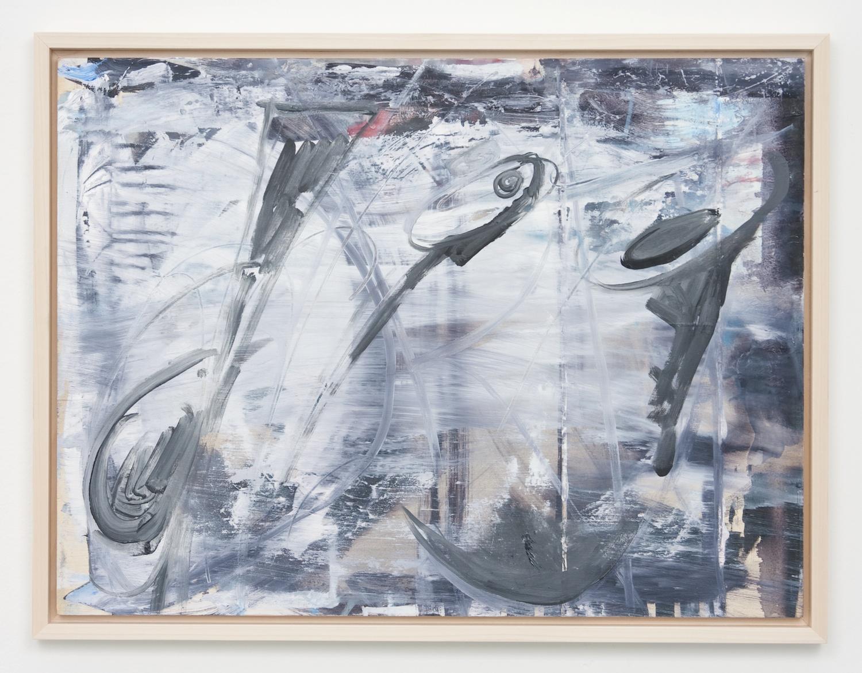Suzanne McClelland  Dig on Board  2010 Acrylic on oil on board framed 17 ½h x 23 ¾w in SM137