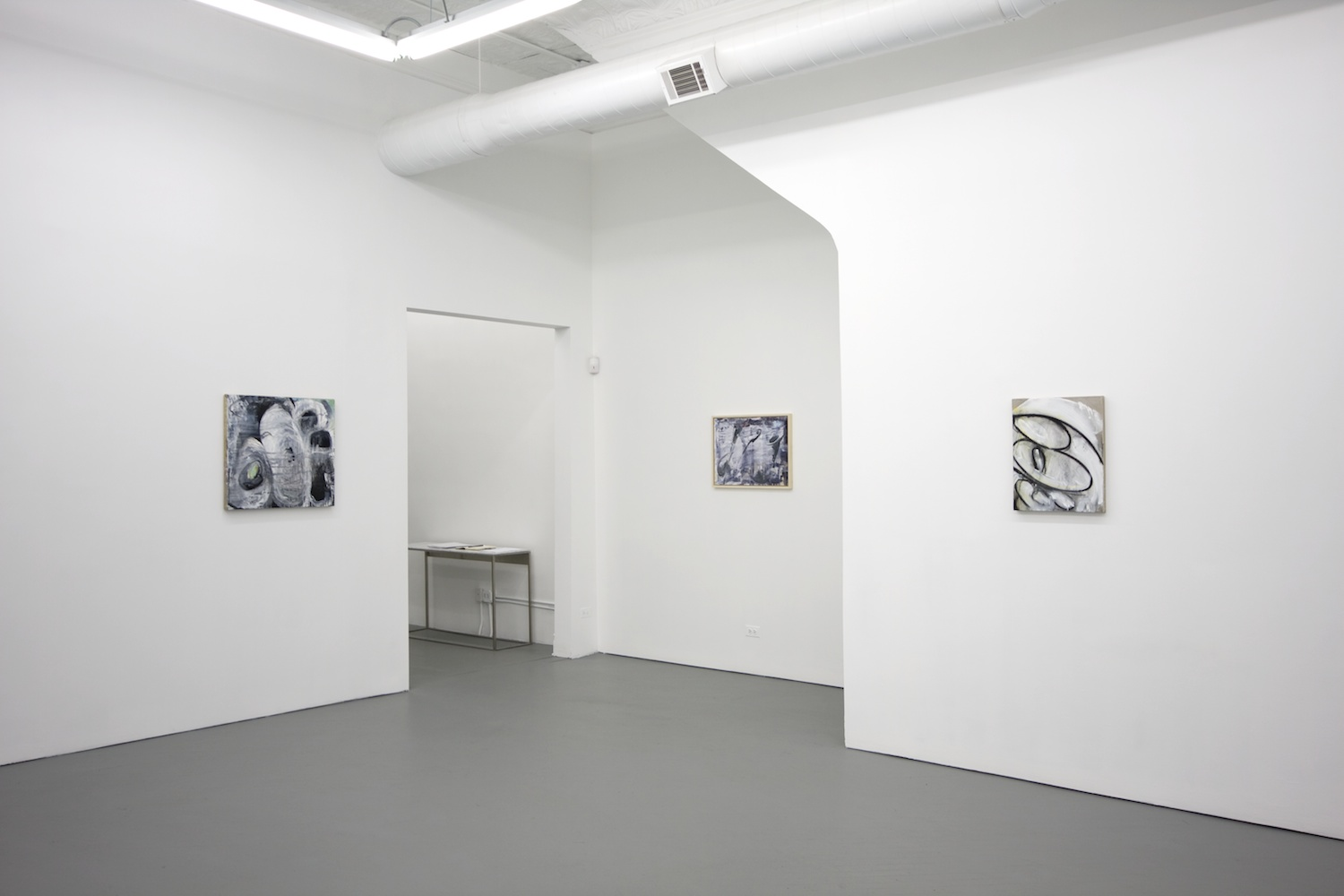 Suzanne McClelland Scratch 2010 Shane Campbell Gallery, Chicago Installation View