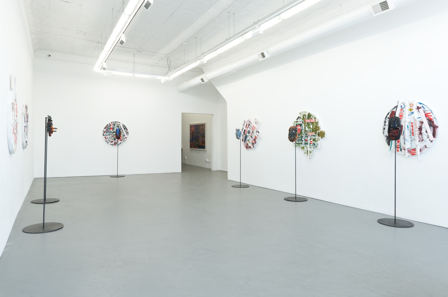 William J. O'Brien Six Circles: Four Squares 2014 Shane Campbell Gallery, Chicago Installation View