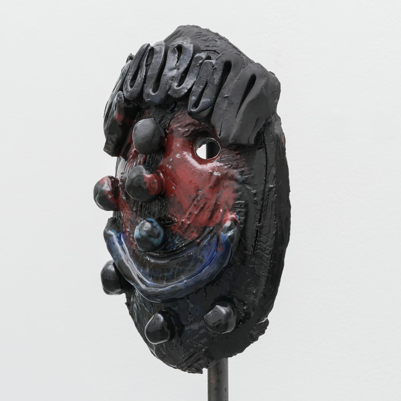 William J. O'Brien  Untitled  2014 Glazed ceramic on steel armature 64 ½h x 20w x 20d in  WOB935
