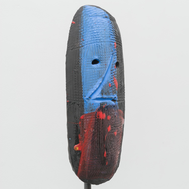 William J. O'Brien  Untitled  2014 Glazed ceramic on steel armature 66 ½h x 20w x 20d in WOB933