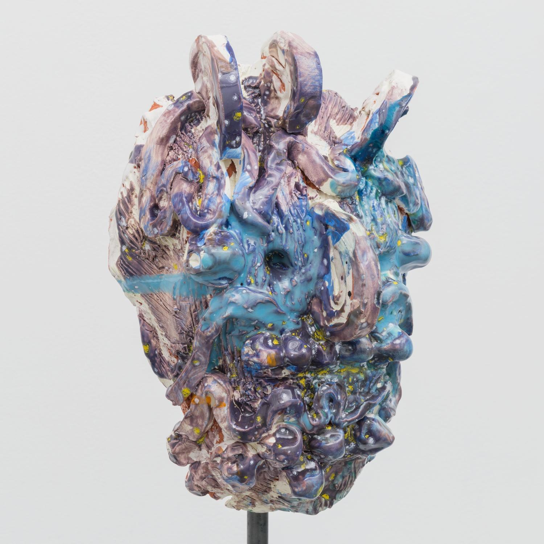 William J. O'Brien  Untitled  2014 Glazed ceramic on steel armature 65 ¾h x 20w x 20d in WOB938