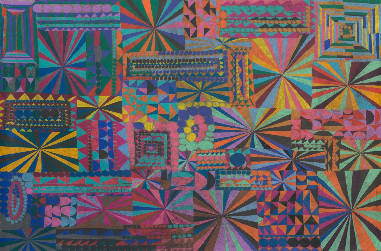 William J. O'Brien  Untitled  2013 Colored pencil and ink on paper 62h x 72w in WOB931