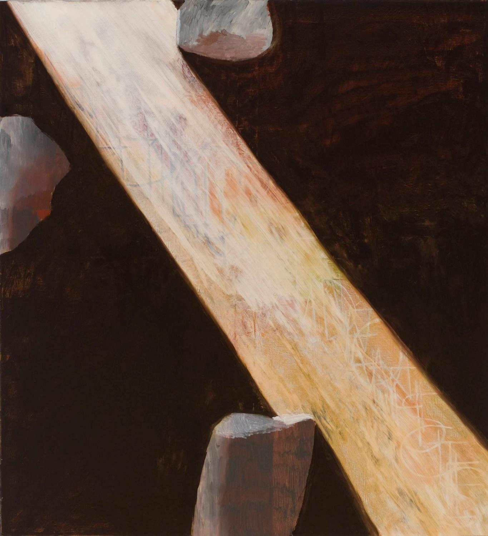 """Jesse Chapman The Cave 2007 Oil on linen 48"""" x 44"""" JC029"""