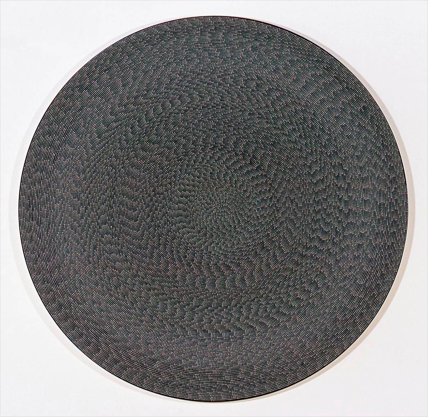 "Michelle Grabner Untitled 2006 Flashe on canvas 60"" diameter MGrab018"