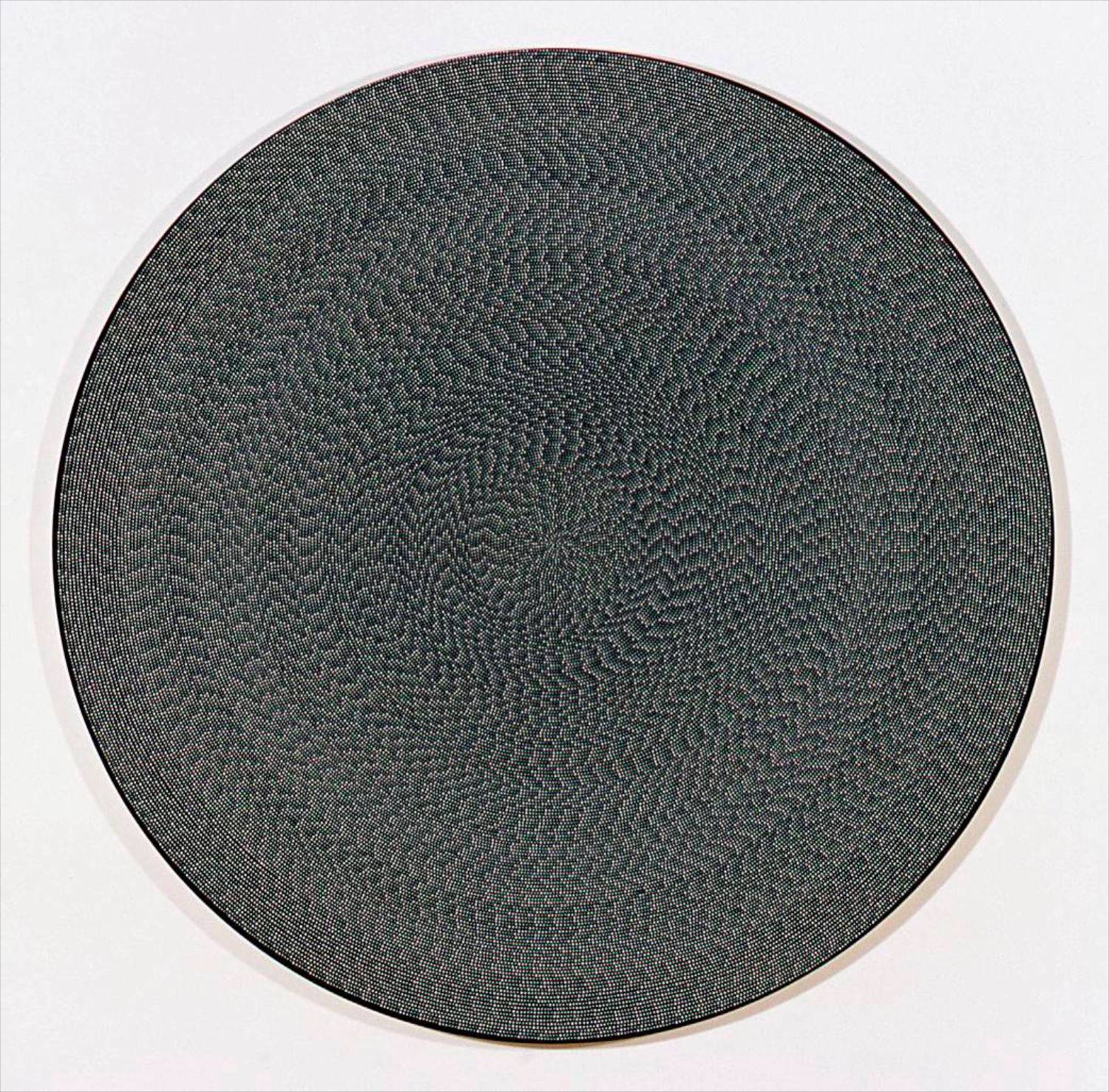 "Michelle Grabner Untitled 2006 Flashe on canvas 70"" diameter MGrab019"