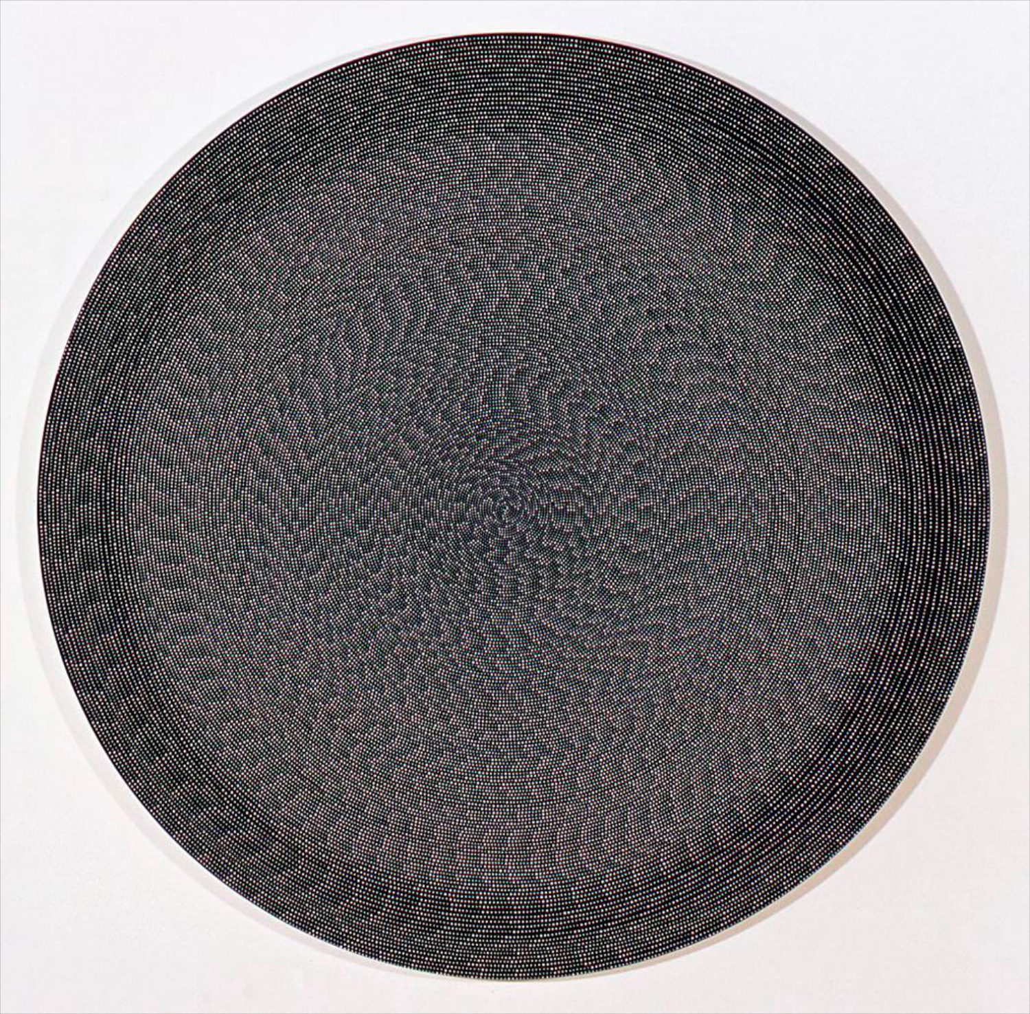 "Michelle Grabner Untitled 2006 Flashe on canvas 60"" diameter MGrab021"