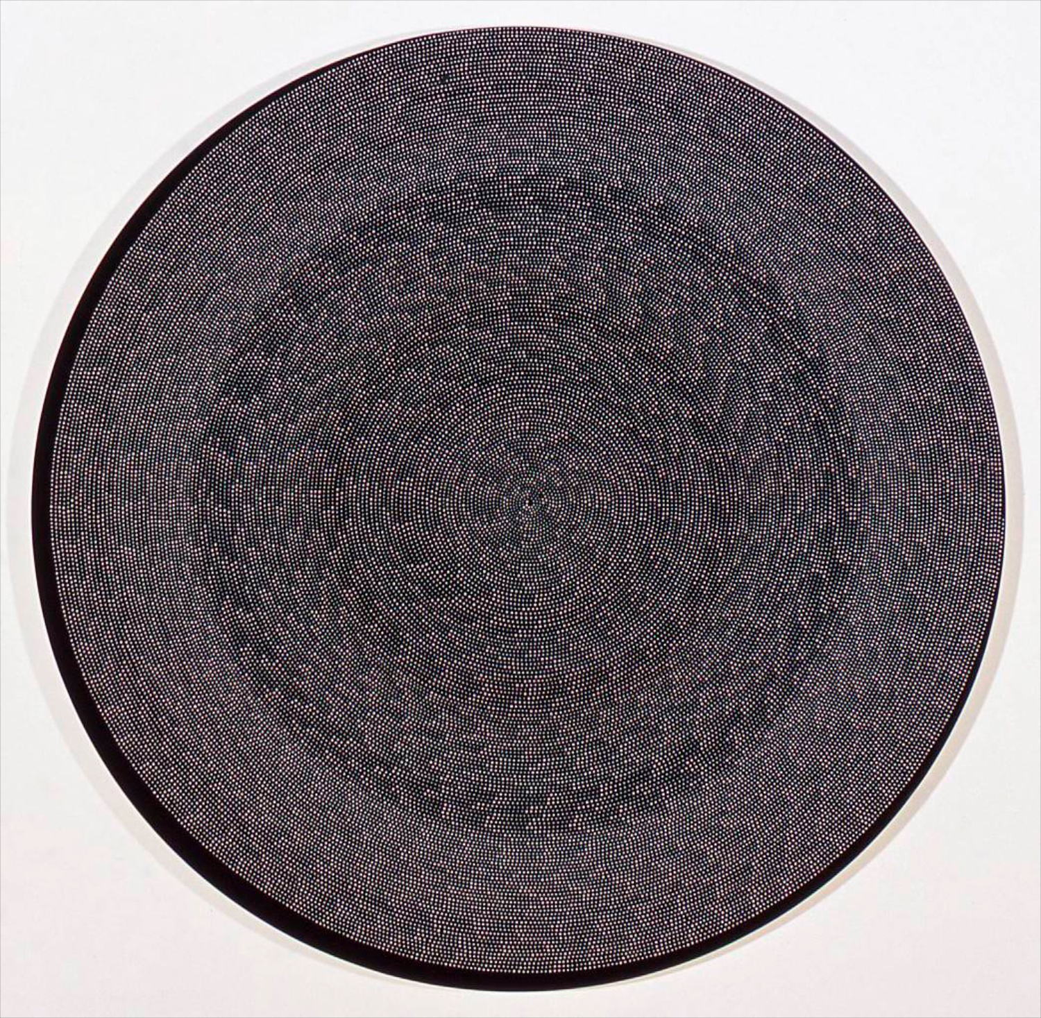 "Michelle Grabner Untitled 2006 Flashe on canvas 50"" diameter MGrab023"