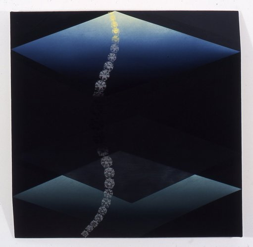 Kim Fisher  Carbon, 10  2004 Oil on linen 29h x 29w in