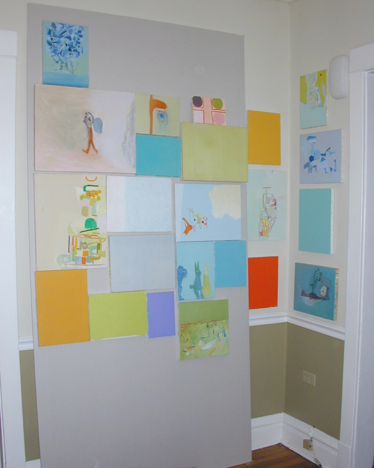 Amy Sillman 2003 Shane Campbell Gallery, Oak Park Installation View