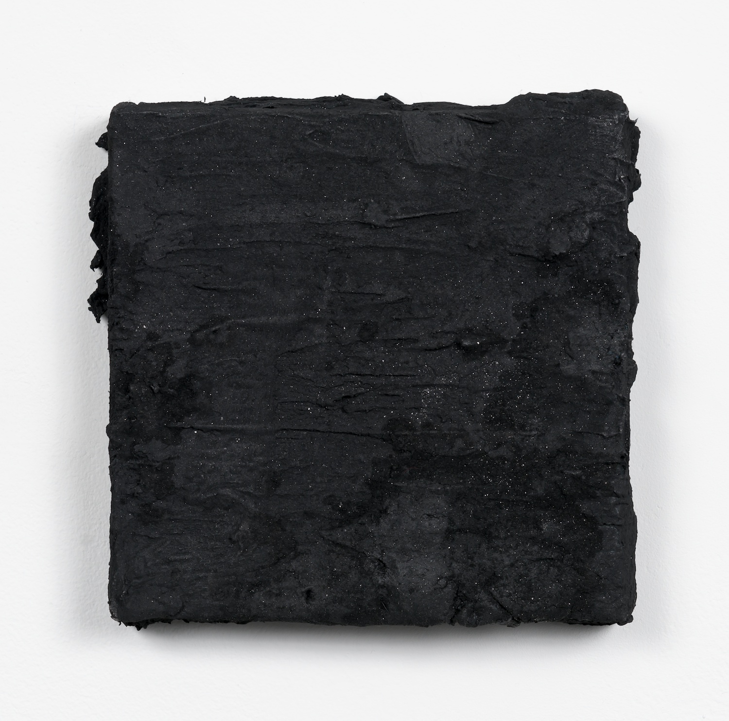 Tony Lewis  Bacon and Eggs  2013 Oil and powdered graphite on canvas 6 ½h x 6 ½w x 1d in TL124