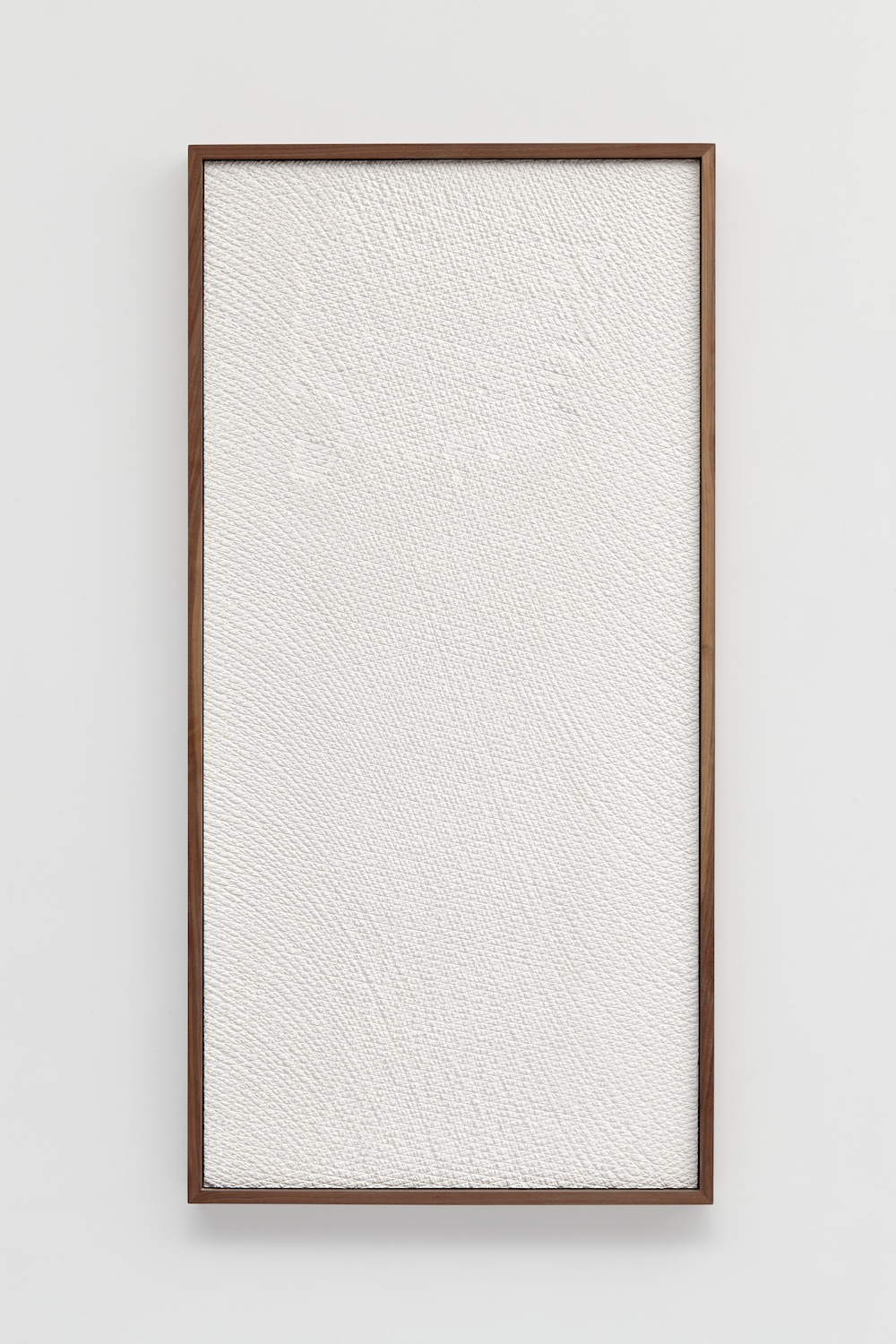 Anthony Pearson  Untitled (Etched Plaster)  2014 Pigmented hydrocal in walnut frame 48 ½h x 24 ½w x 2 ½d in AP358