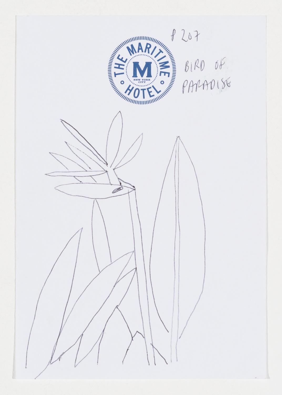 Jonas Wood  TMH3  2014 Ballpoint pen on paper 6 ½h x 4 ½w in JW176