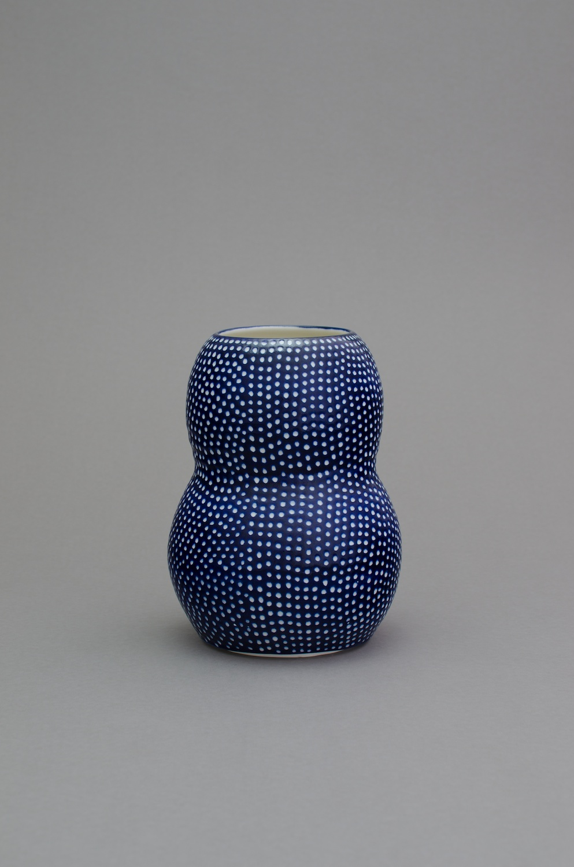 Shio Kusaka  (dot 55)  2014 Porcelain 10h x 7 ½w x 7 ½d in SK421