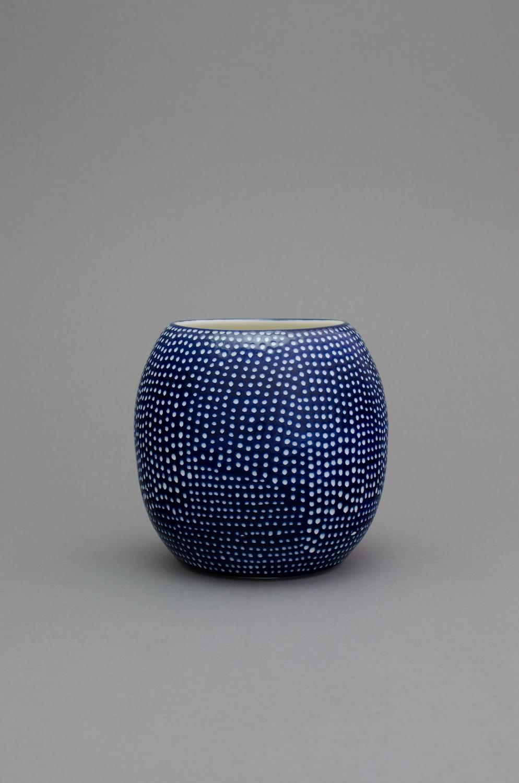 Shio Kusaka  (dot 56)  2014 Porcelain 8 ½h x 9w x 9d in SK422