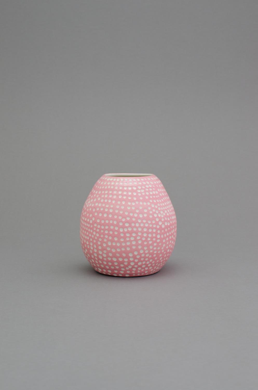 Shio Kusaka  (dot 58)  2014 Porcelain 6 ¾h x 6 ¾w x 6 ¾ SK424