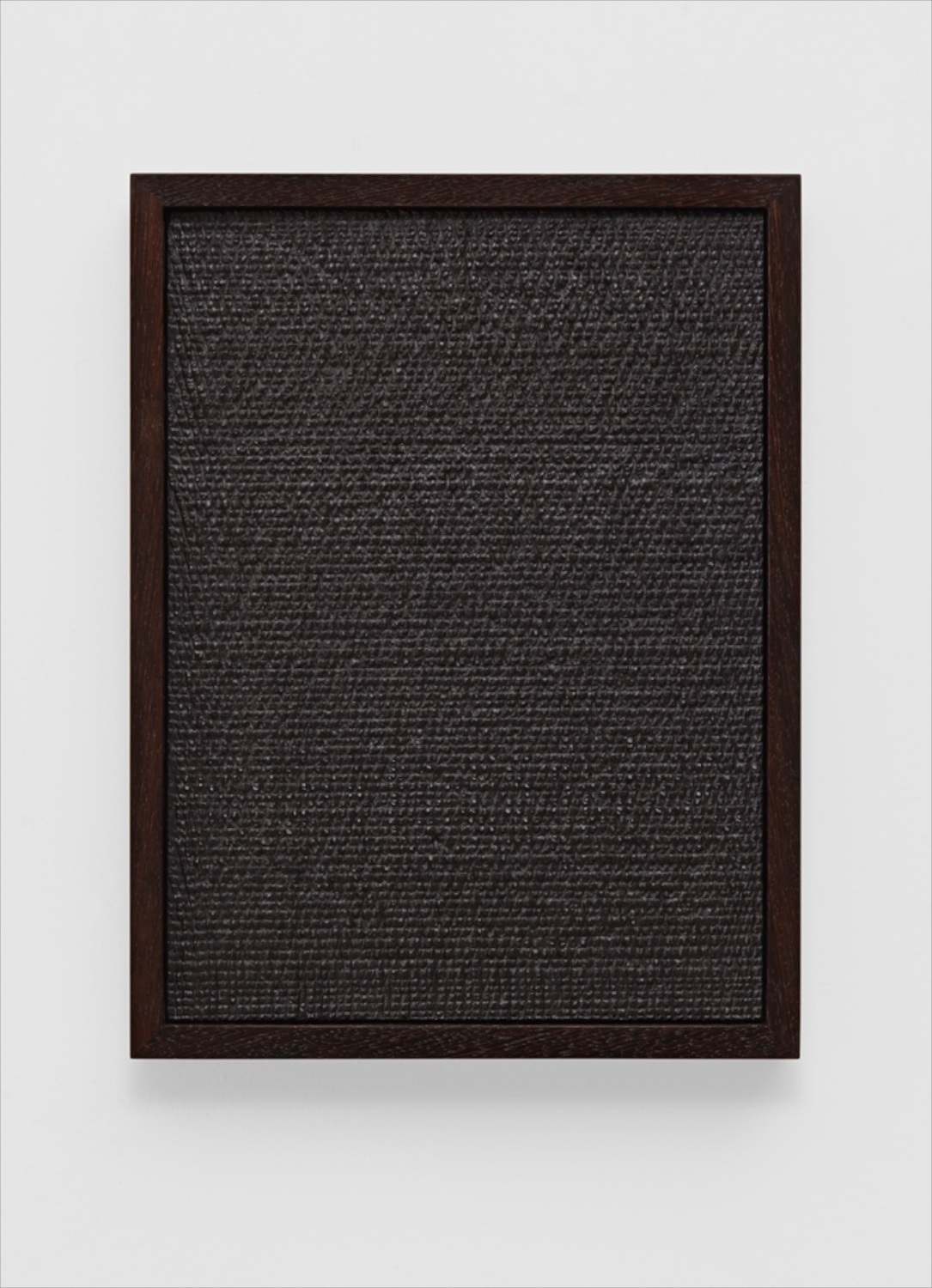 Anthony Pearson  Untitled (Etched Plaster)  2014 Medium coated pigmented hydrocal in tung oiled wenge frame 16 ¼h x 12 ¼w x 2d in AP345
