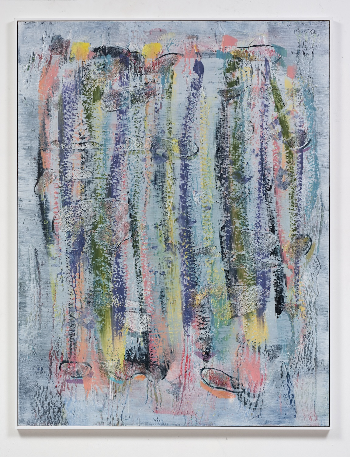 Jon Pestoni  How To  2014 Oil and mixed media on panel, inset into wood frame 78h x 60w in JP193