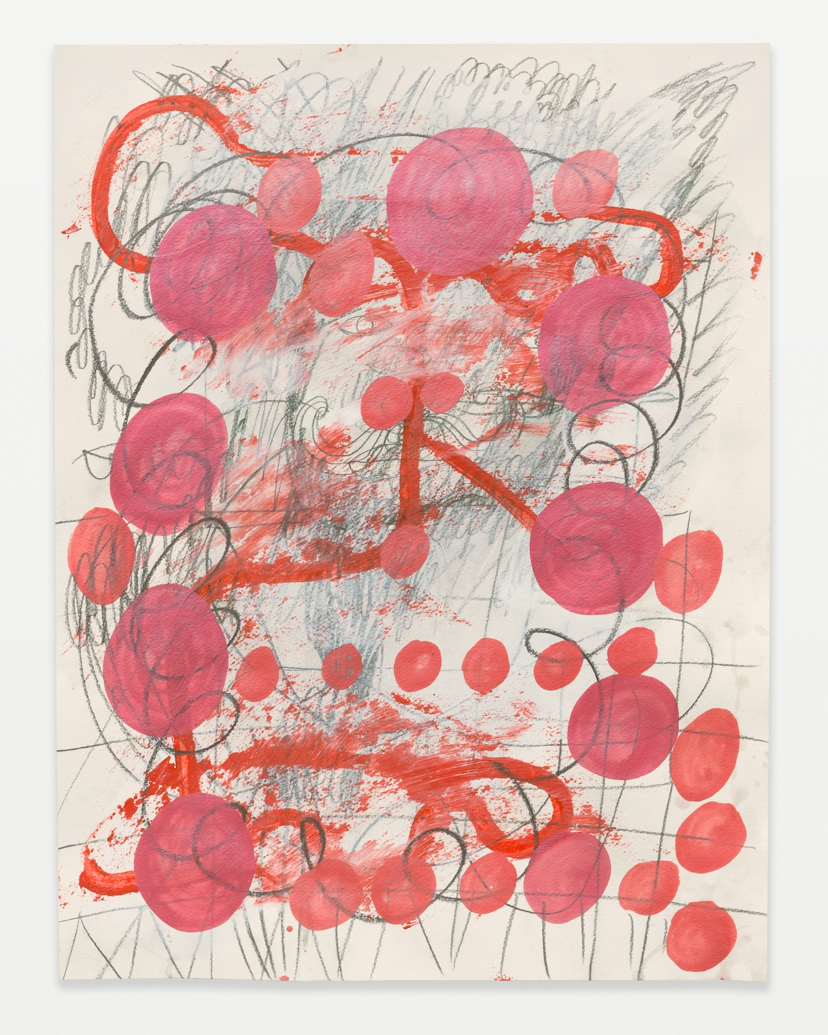William J. O'Brien  Untitled  2014 Acrylic, colored pencil, and graphite on paper 24h x 18w in WOB962
