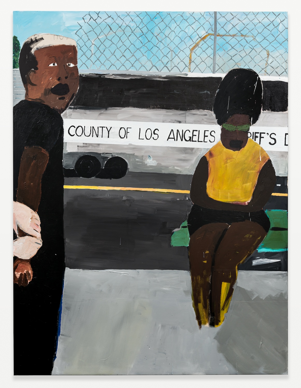 Henry Taylor  Where are my brothers keepers  2008 Acrylic on canvas 90h x 67w in HT001