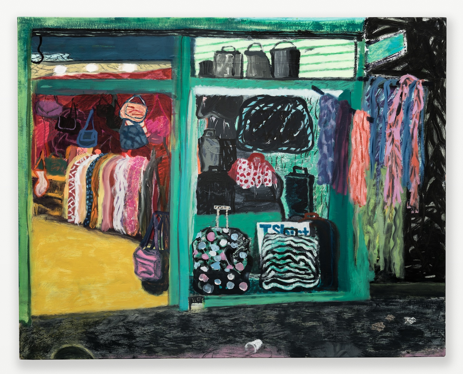 Tyson Reeder  Canal St.  2012 Oil, acrylic, and gouache on canvas 24h x 30w in TR003