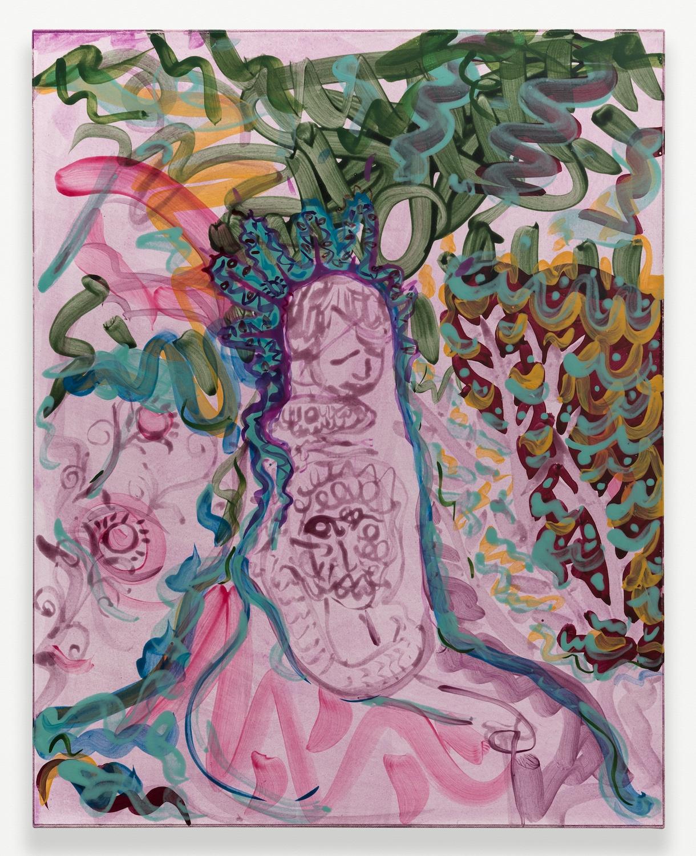 Nick Schutzenhofer  Untitled  2014 Egg tempera on paper mounted to canvas 29 ⅛h x 23 ⅛w x 1d in NSchutz003
