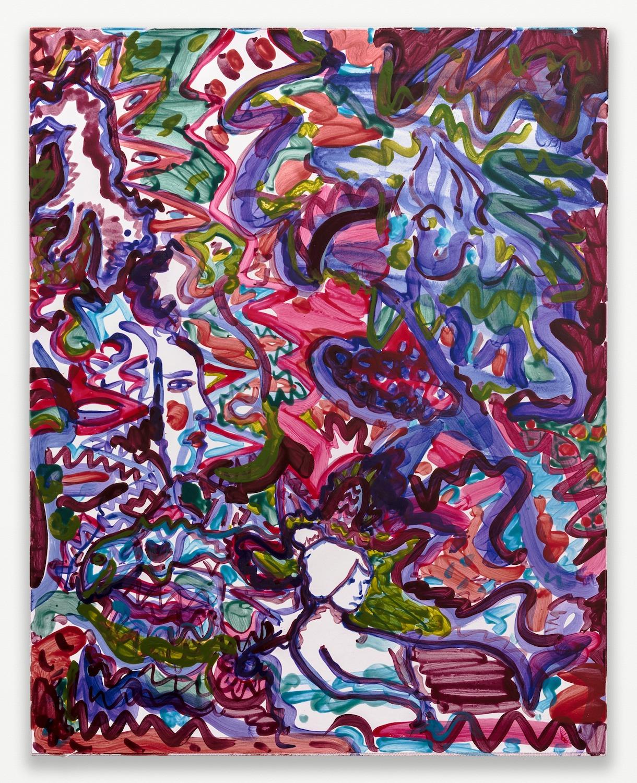 Nick Schutzenhofer  Untitled  2014 Egg tempera on paper mounted to canvas 29 ⅛h x 23 ⅛w x 1d in NSchutz004