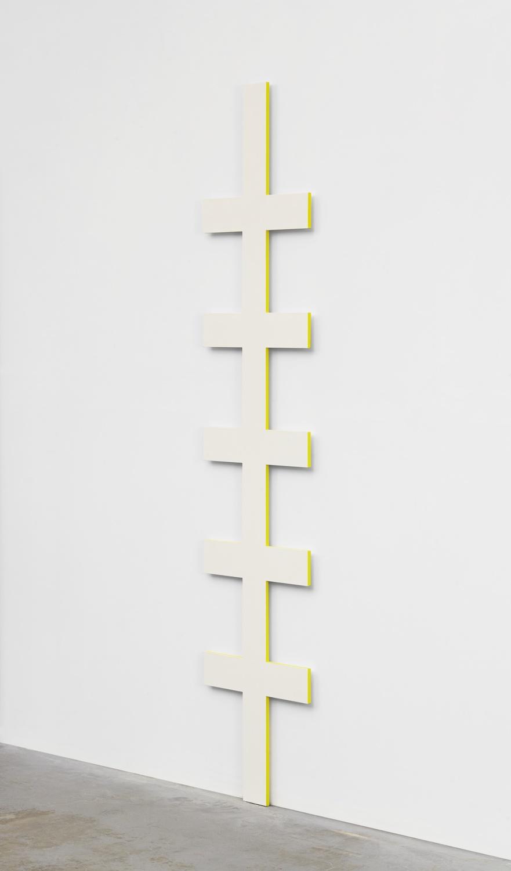 Lisa Williamson  Ladder  2014 Acrylic on aluminum 84h x 18w x 1d in LW142