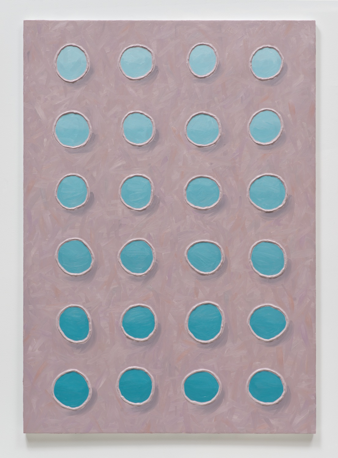 Alex Olson  Rote  2014 Oil and modeling paste on linen 51h x 36w in AO156