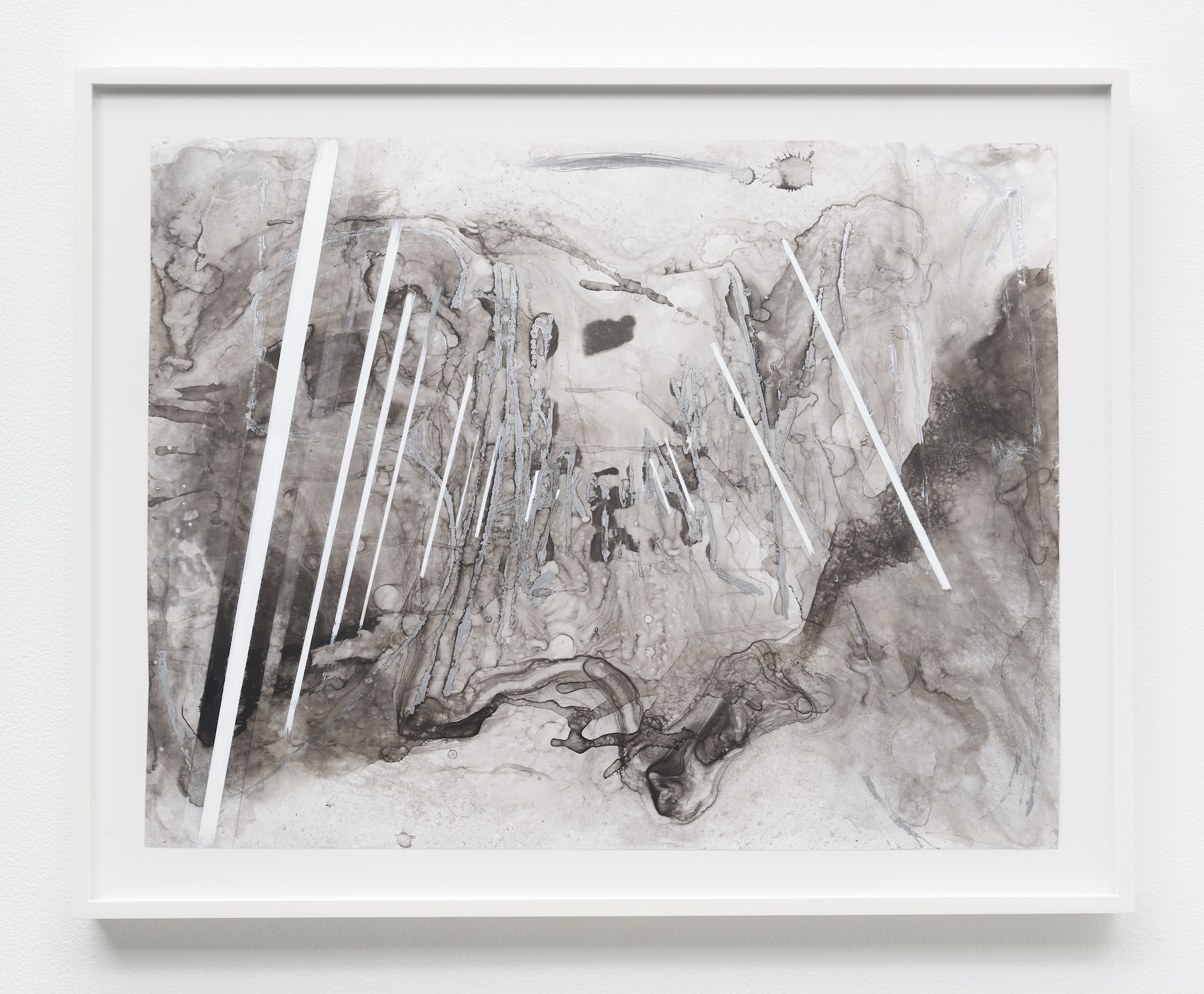 Suzanne McClelland  Shake It  2014 Ink, graphite, charcoal, paint on YUPO 28 ¼h x 34w in SM228