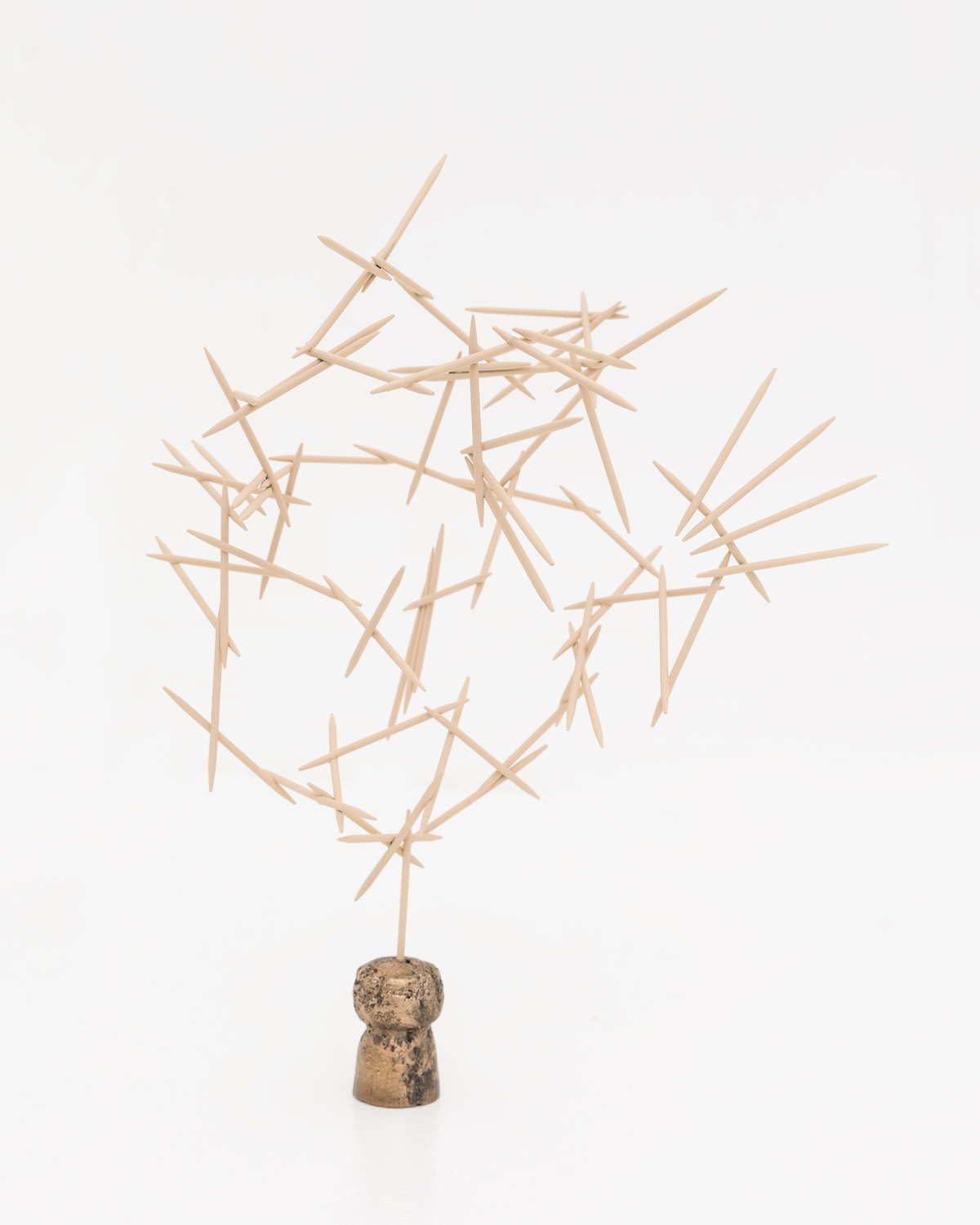 Chris Bradley  Mnemonic  2015 Painted steel and bronze 8h x 7w x 6d in CB140