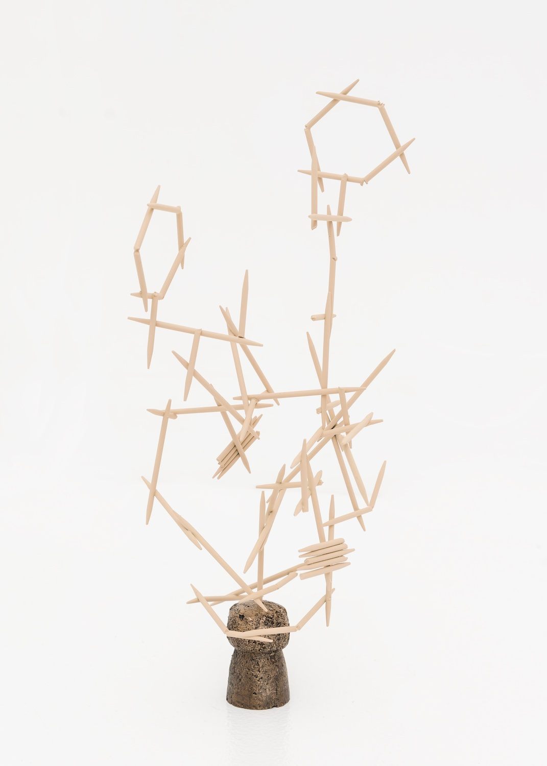 Chris Bradley  Mnemonic  2015 Painted steel and bronze 7h x 5w x 5d in CB124
