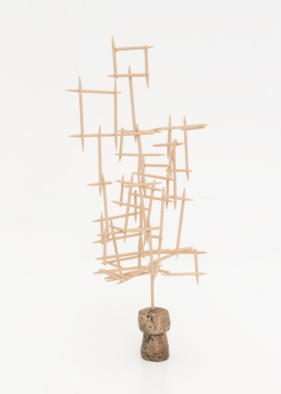 Chris Bradley  Mnemonic  2015 Painted steel and bronze 8h x 5w x 5d in CB121