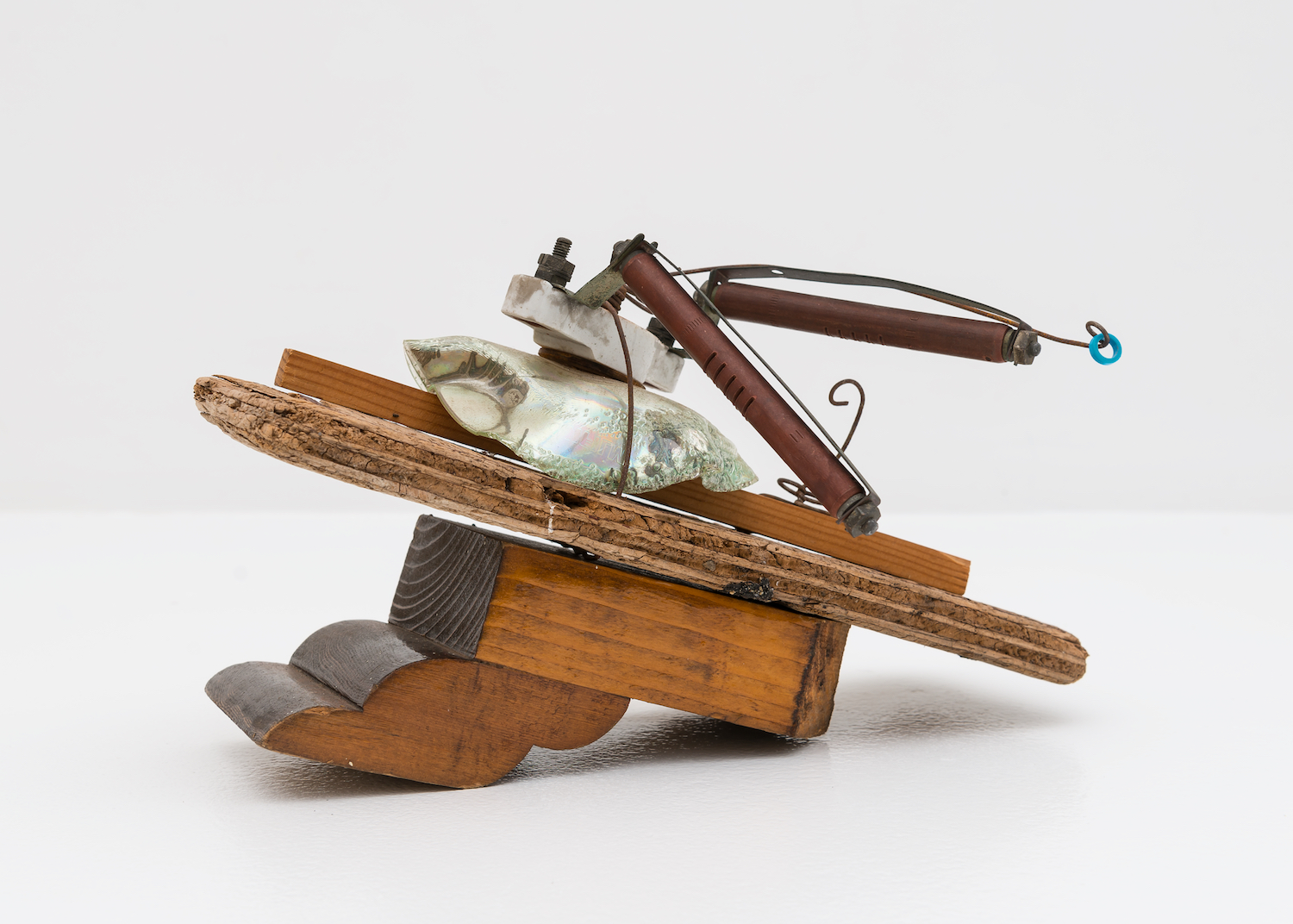 George Herms  Lymphatic Vessel  2008 Assemblage sculpture 7 ½h x 10 ½w x 6d in GH001