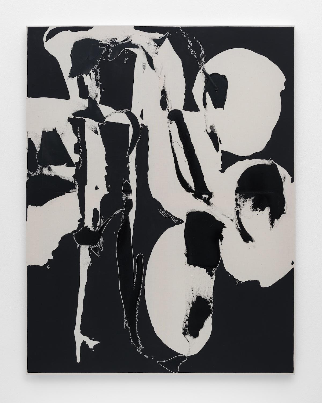 Zak Prekop  Reversal with Black  2015 Oil on muslin 35h x 27w in ZP326