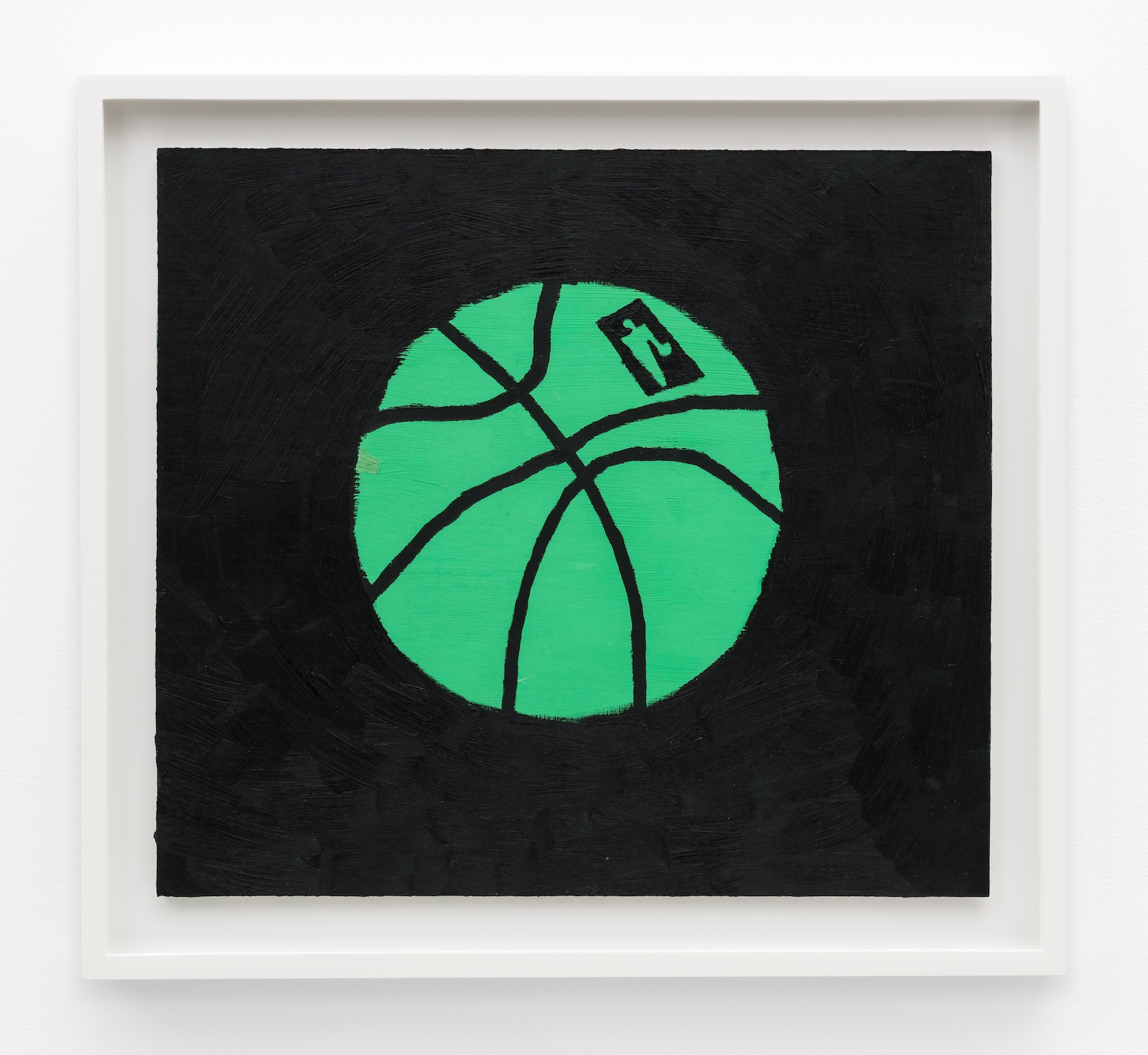 Jonas Wood  Green Ball  2014 Oil and acrylic on cardboard 14 ⅝h x 16 ¼w in JW190