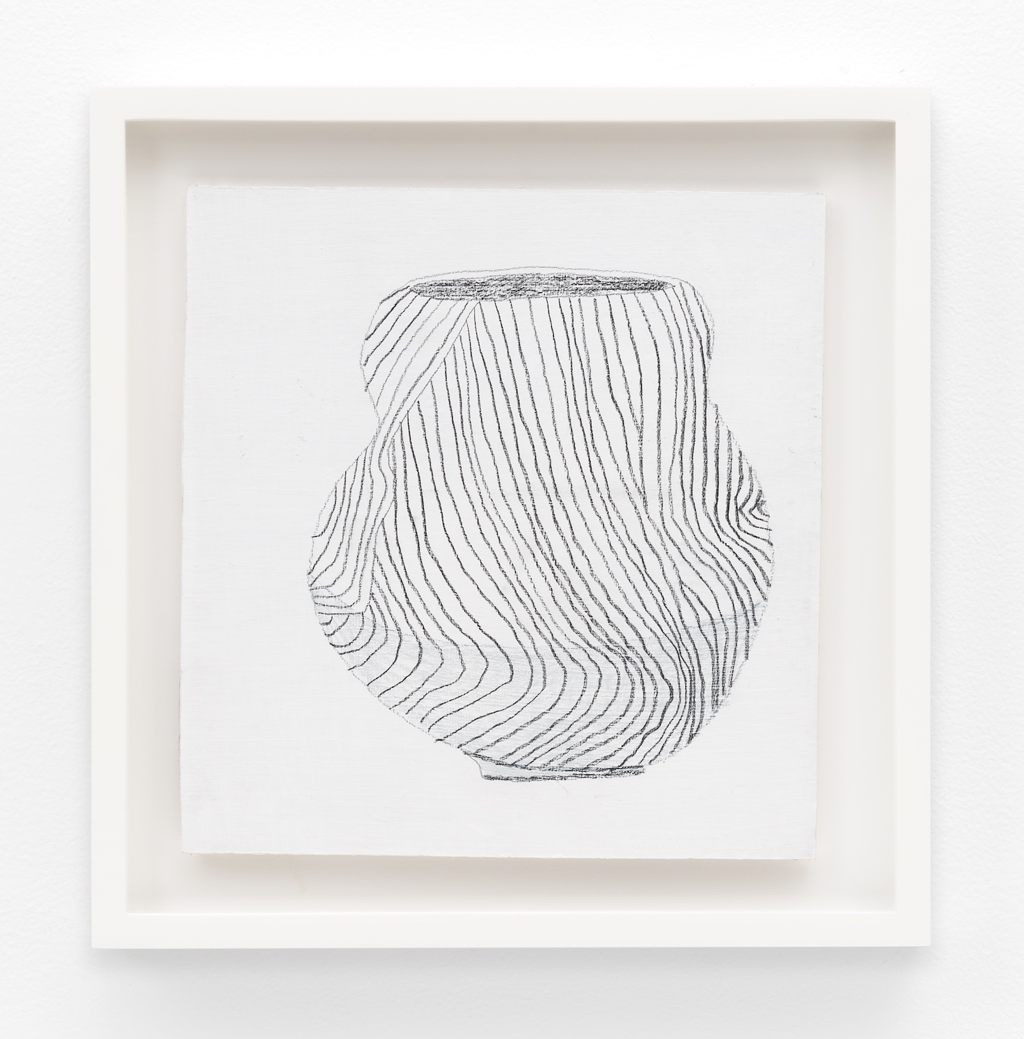 Jonas Wood  SK Pot 1  2012 Gesso and colored pencil on cardboard 9 ⅜h x 9 ⅛w in JW193