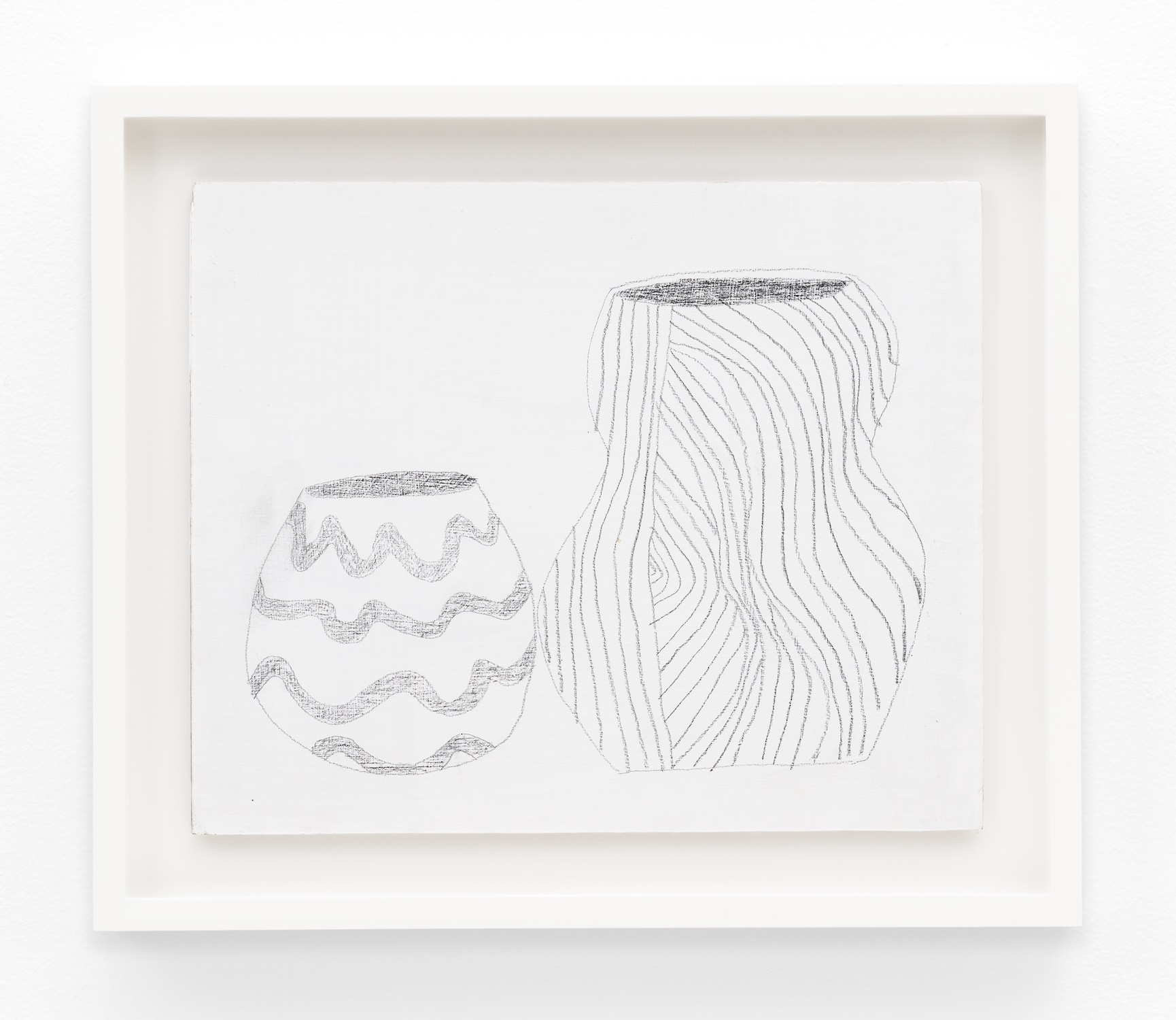 Jonas Wood  SK Pot 4  2012 Gesso and colored pencil on cardboard 10h x 12 ⅙w in JW196