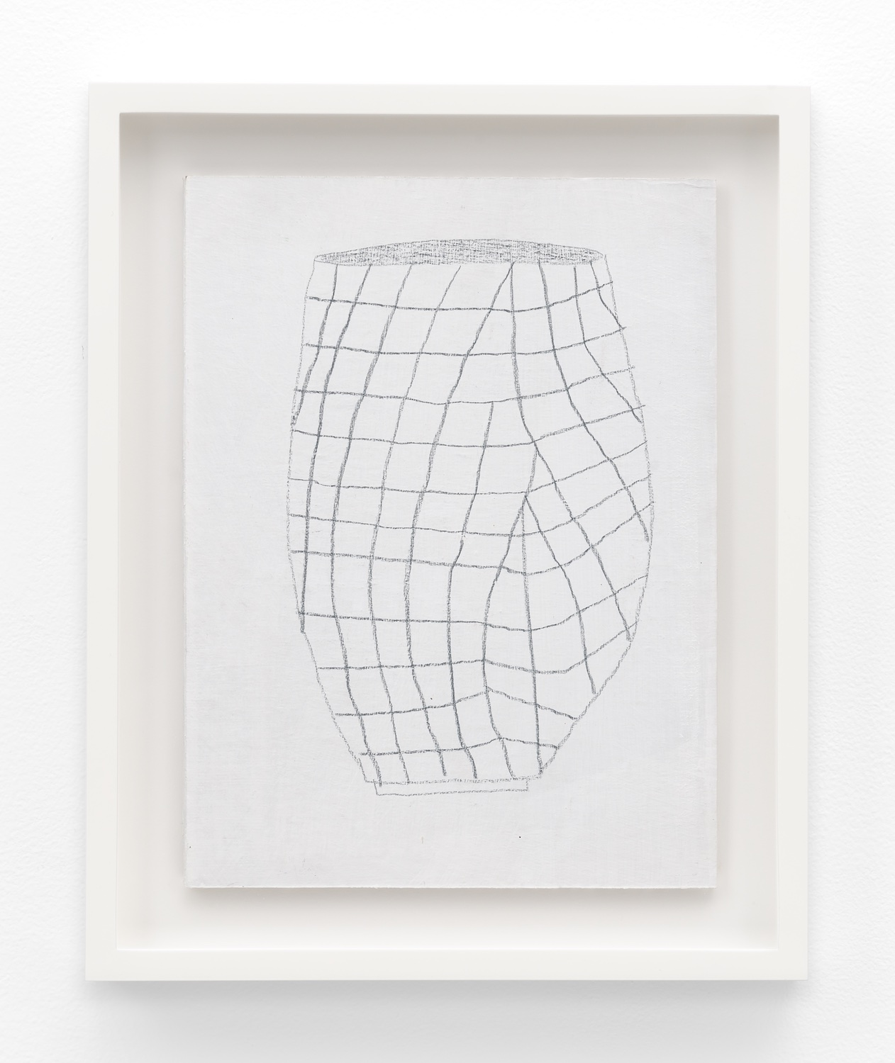 Jonas Wood  SK Pot 5  2012 Gesso and colored pencil on cardboard 11 ½h x 8 ⅝w in JW197